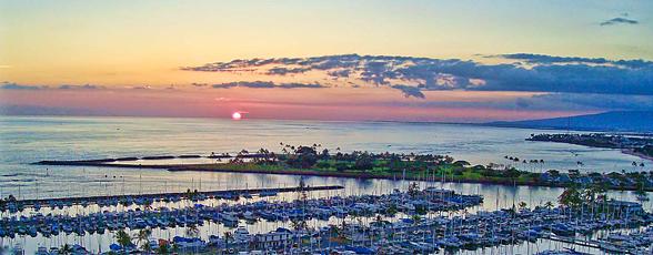 Amazing sunset views from the Ilikai Suites in Waikiki