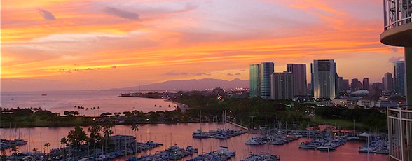 Get beautiful harbor views like this with Hawaii Vacation Properties LLC