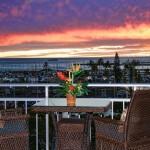 Waikiki sunset view from the lanai