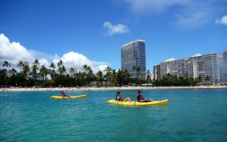 Waikiki local attractions include kayaking