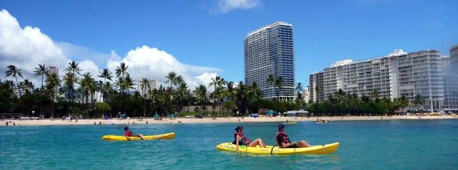 Waikiki local attractions include kayaking