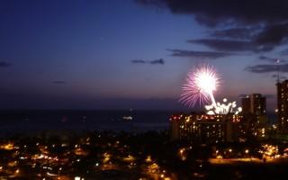 Friday night fireworks in Waikiki