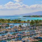 Sky High view of Ala Wai Harbor in Waikiki