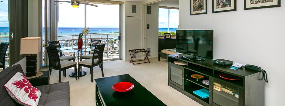Ilikai Marina Hawaiian style living with ocean view